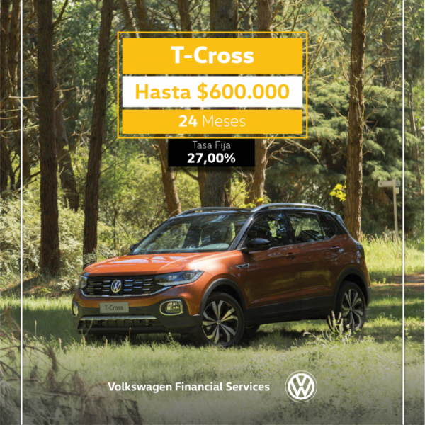 Llévate un T-Cross: financia hasta $600.000 en 24 meses